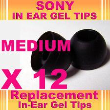 12 SONY MDR EX CX In Ear Buds HeadPhones Headset Earphones Gel Tips Medium