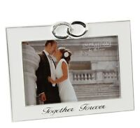 Impressions Silver Plated Photo Frame Together Forever Wedding Gift Idea   20061