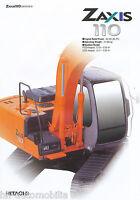 6004HIT Hitachi Zaxis 110 Prospekt GB Bagger 2003 brochure excavator pelleteuse