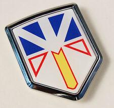 Newfoundland Canada Flag Car Chrome Emblem Decal