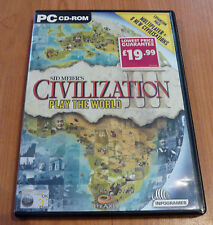 Retro PC CD Rom Game - Civilization - Play The World Expansion Pack