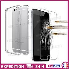 Coque Housse etui Silicone Crystal iPhone 8/7/6/5/SE + Film vitre Verre Trempé