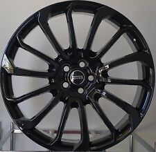 20x9 WHEELS FIT LAND RANGE ROVER SUV EVOQUE Style 707 Gloss Black Rims 5x108
