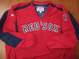 Majestic MLB Boston Red Sox Baseball Authentic On Field Pullover Jacket XL ~NEW~