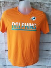 Miami Dolphins Nike Dri Fit New Logo Equipment NFL Training Shirt Mens Large L A