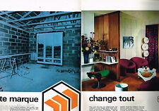 PUBLICITE ADVERTISING 065 1970  ISOREL  panneaux bois (2 pages)