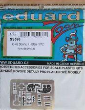Eduard 1/72 Couleur SS596 Zoom Etch Pour Hasegawa Nakajima Ki-49 Donryu (Helen)
