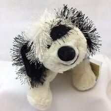 "Webkinz Cheeky Dog With Secret Code Black White Puppy HM192 Ganz Plush 8 "" Toy"
