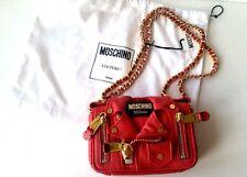 MOSCHINO COUTURE $1695 Jeremy Scott Red Biker Jacket Crossbody Bag NWT