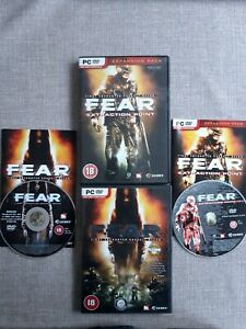 F.E.A.R FIRST ENCOUNTER ASSAULT RECON & EXPANSION PACK BUNDLE PC GAME PREOWNED