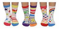 3 Oddsocks For Girls United Oddsocks Kitty Cats UK 12-5.5
