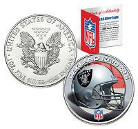 OAKLAND RAIDERS 1 Oz .999 Fine Silver American Eagle $1 US Coin NFL LICENSED
