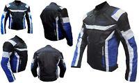 Giacca Giubbotto Da Per Moto Con Protezioni in Cordura S M L XL XXL 3XL 4XL