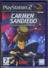 PS2 Carmen Sandiego: The Secret of the Stolen Drums, UK Pal, New Factory Sealed