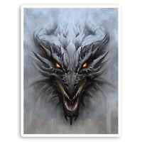 2 x 10cm Evil Dragon Vinyl Stickers - Demon Fantasy Cool Laptop Sticker #30142