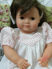 """Collector Owned Gotz Puppe 19"""" Baby Doll in GUC Brown Hair & Eyes"""