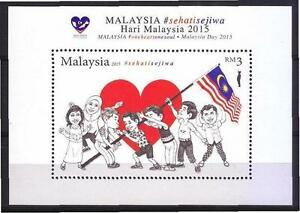 MALAYSIA 2015 MALAYSIA DAY (LOVE & FLAG) MINIATURE SHEET OF 1 STAMP IN MINT MNH