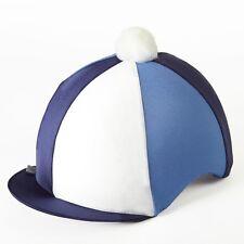 Navy/B Cambridge Cappello da equitazione blu seta Copertura per casco da fantino TAPPI Taglia Unica