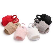Newborn Baby Girl Soft Sole Plush Crib Shoes Anti-slip Summer Sandals Prewalker