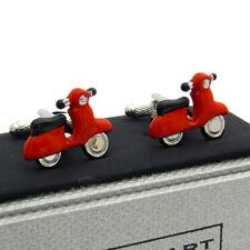 Motor Scooter Ciclomotor Cufflinks Gemelos Mod Onyx-Art CK384 NUEVO por