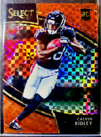CALVIN RIDLEY 2018 Panini Select ROOKIE RC FIELD LEVEL RED PRIZM #'D 21/49 SSP