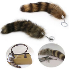 Key Ring Raccoon Coat Tails Chain Keychain Keyring Gift New