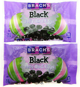 Limited Time! Brach's Black Jelly Bird Eggs ~ Candy ~ 7oz Bag ~ Lot of 2