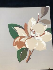 Vivienne Westwood Cole & son magnolia print wallpaper natural