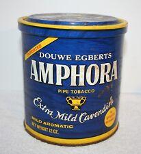 VTG DOUWE EGBERTS AMPHORA Pipe Tobacco Tin BLUE TIN