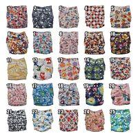 New Baby One Size Adjustable Snap Cloth Pocket Diaper (No inserts) Tagless Alva