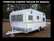 FORESTER CAMPER TRAILER MANUALs 230pg w/ Teardrop RV Appliance Service & Repair