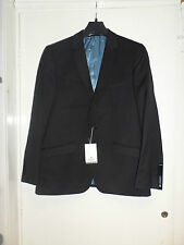 Alexander Dobell Black Slim Fit Suit Jacket Mens 42S box55 01 E