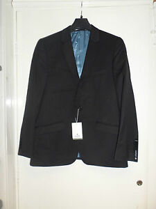 Alexander Dobell Black Slim Fit Suit Jacket Mens 42S box55 01 E