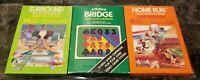 (3) Atari 2600 Boxed Game Lot CIB Lot #11