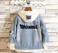 Dragonball Z Cosplay Anime Kapuzen Jeans Jacke Coat Hoodie Hooded Jacket Coat