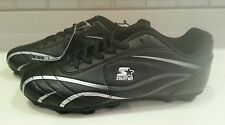 Mens Starter Black Athletic Cleats Size US 6 New
