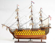 """HMS Victory Admiral Horatio Nelson's Flagship Tall Ship Wooden Model 37"""" T101"""