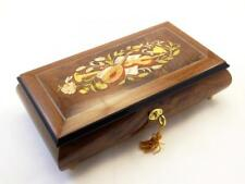 Made in Italy Sorrento Large Burlwalnut Wooden Jewelry Music box