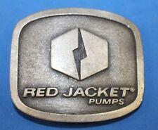 Vintage Distressed Red Jacket Pumps Belt Buckle