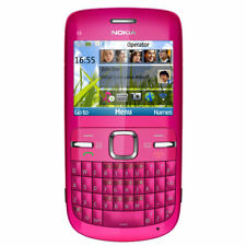 Nokia C3 Qwerty Keyboard Hot Pink Mobile Phone  NEW Boxed