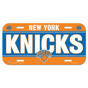 New York Knicks License Logo Plate Car Sign 11 13/16in NBA Basketball