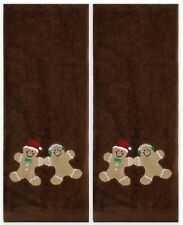 "Saturday Knight 2-Piece Sweet Treats Hand Towel Set In Chocolate 16"" x 28"""