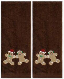 "Saturday Knight 2-Piece Sweet Treats Hand Towel Set In Chocolate 16"" x 28"""