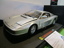 FERRARI TESTAROSSA gris 1/18 HOT WHEELS ELITE J2928 voiture miniature collection