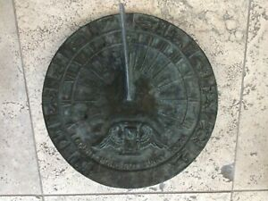"""SUNDIAL / 12"""" DIAMETER / Metal / I Count None But Sunny Hours"""
