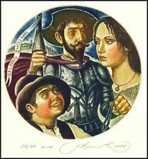 Kirnitskiy Sergey 2016 Exlibris C4 Don Quichote Quijote Quixote Erotic Woman 236