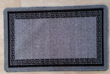 Non Slip Rug Carpet Runner Mat Hall Door Machine Washable Large All Floors 5 Grey Black 50cmx80cm