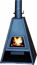 Stufa  Stufe a legna acciaio Delta antracite 21 Kw. camera combustione grande