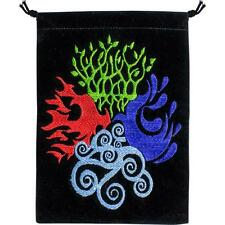 4 Elements (Earth, Air, Fire, Water) Velveteen Tarot, Crystal Bag!