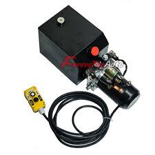 Double Acting Hydraulic Pump 12v Dump Trailer - 10 Quart Metal Reservoir